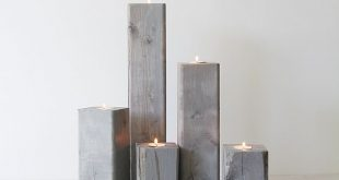 DIY Wood Candle Holders tutorial by Lindsay Stephenson These are great and could...