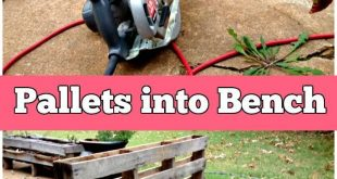 5 Easy Step DIY Transformation – Pallet into Outdoor Patio Bench - 150 Best DI...