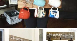 Pallet Coffee Cup Organizer. Top 23 Cool DIY Kitchen Pallets Ideas You Should No...