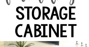 DIY Farmhouse Storage Cabinet Free plans and tutorial by Shanty2Chic! Great for ...