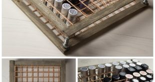 DIY Wood and Rope Lipstick Storage Tutorial from Sandra Holmbom. This is a no po...