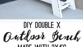 Double X Bench Plan - 14 Awesome DIY Backyard Ideas to Finalize Your Outdoors Lo...