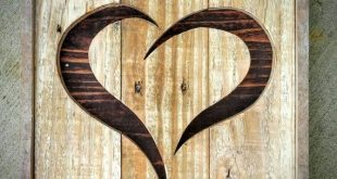Handmade Reclaimed Rustic Pallet Wood Heart Home Decor Made to Order ...