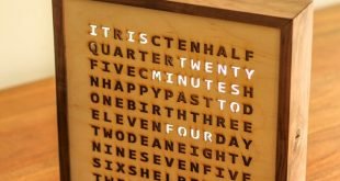 I built this word clock for my brother and his wife. It has a special feature th...