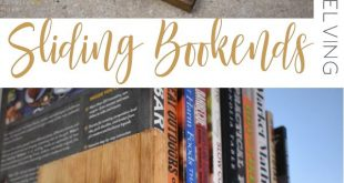 This Scrappy Saturday project is sliding bookends for open shelving. These slidi...