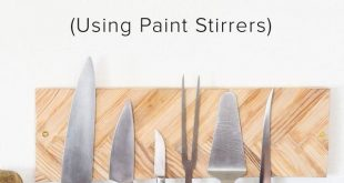 Yes, you CAN make this wall-mounted knife rack with this easy to follow tutorial...